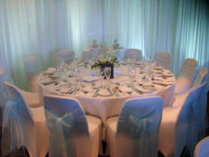 Soft intimate celebration setting
