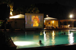 Movies in the pool - a great summer party idea