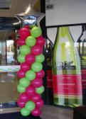 Balloon column - draws attention to feature brand