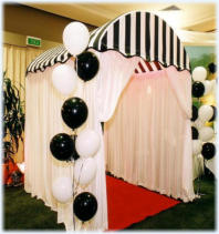 Black & White Gala Entry with RED CARPET - has many applications